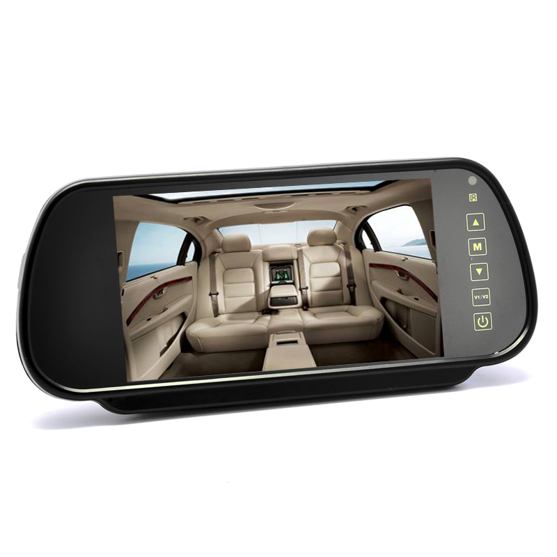 Relisted: 7 Inch Rearview Mirror Monitor - Touch Button Control, 4:3 Ratio, 480=234 CVECL-738H-2GEN.