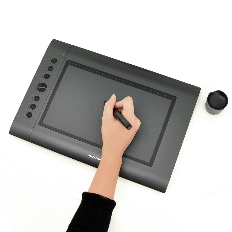 Shop Usb Graphics Drawing Tablet Huion H610 10 Inch X Inch Online Shopclues