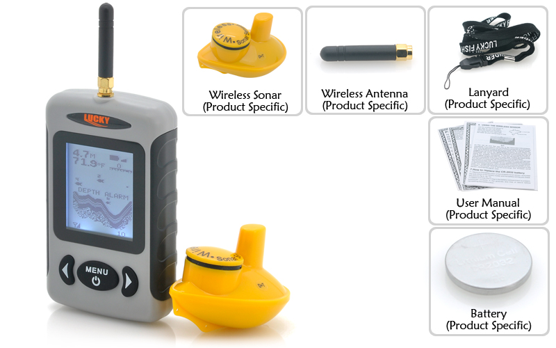 a0264 echo sounder wireless fish finder carp fishing bait boat, Fish Finder
