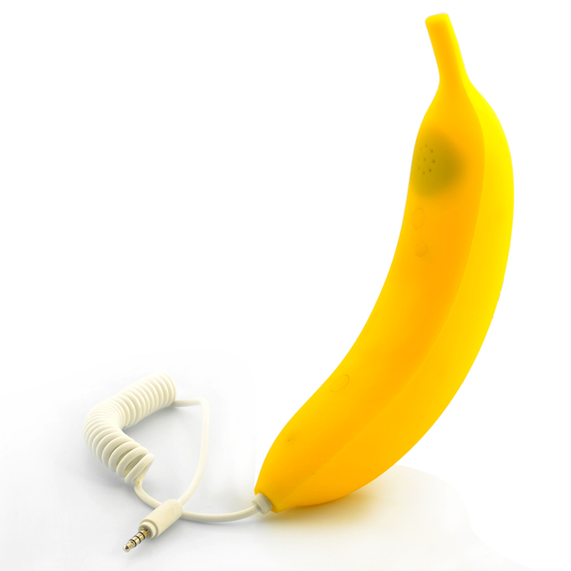 Banana Phone Handset - 3.5mm Jack, 120cm Cable, Answer/End Call Button