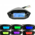 [Indonesia Direct] 12V Universal Motorcycle LCD Digital 13000rpm Speedometer Backlight Motorcycle Odometer Colorful_B2912
