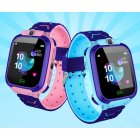 [Indonesia Direct] Children Kids Smart Watch Anti-Lost SOS Tracker Smartwatch   [A28-GA] pink