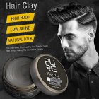 [Indonesia Direct] Men Hair Wax High Hold Hair Clay Non-greasy Hair Styling Long Lasting Effect Pomade