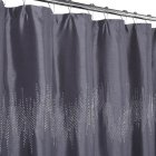 [US Direct] 110GSM satin bamboo joint ordinary diamond hot one-row diamond shower curtain gray_35