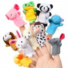 [US Direct] 16pcs Cartoon Animal Plush Finger Puppets Set Cute Dolls  for Children, Story Time, Shows, Playtime, Schools