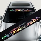 [US Direct] Colorful Reflective Decoration Decals Car Stickers Styling Front Windshield Decal Sticker  style 1
