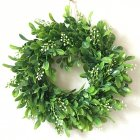 [US Direct] Lifelike Artificial Wreath Flowers Door Hanging Wall Window Decoration Wedding Party Christmas Decor 11.8