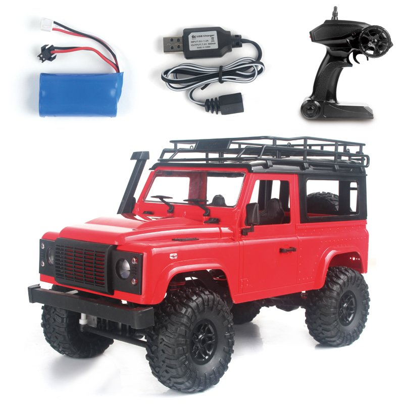 1:12 2.4G Remote Control High Speed Off Road Truck Vehicle Toy RC Rock Crawler Buggy Climbing Car for PICKCAR D90 Kid Boy Toys Vehicle red