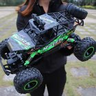 1 12 4WD RC Car Update 2 4G Radio Remote Control Car Toy High Speed Truck Off road Toy green