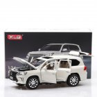1:24 Alloy Car Model Simulation Off-road Vehicle with Light Sound Doors Open Kid Toy  white