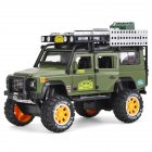 1:28 Simulation SUV Car Model Light Sound 6 Doors Open Alloy Pull Back Auto Toy Collection green