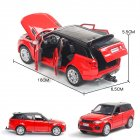 1:32 Alloy Car Model Vehicle Model Simulation Family Car Model Car Ornaments red
