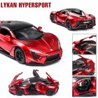 1:32 Alloy Sports Car Model Toy for Children Christmas Gift Decoration red