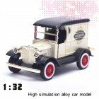 1 32 Classic Ford Retro Vintage Cars Alloy Car Model with Sound Light Convertible Car Toy  T class classic car white