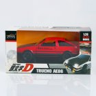 1:32 Simulate Alloy AE86 Car Pull Back Light Sound Modeling Toy(Box Packing) red