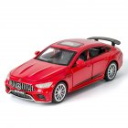 1:32 Simulation Racing Car Model Light Sound Effect Doors Open Alloy Pull Back Auto Toy Gift Collection red
