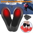 1 Pair 4.5V Battery Electric Foot Heated Shoe Boot Insoles Heater Sock Snow Feet Warmer black_One size
