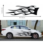 1 Pair Car Truck Totem Flame Graphics Label Side Vinyl Body Sticker Cool Waterproof Auto Sticker black