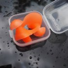 1 Pair Silicone Spiral Earplugs Orange