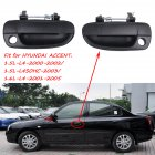 1 Pair Outside Door Handle OE 82660-25000FR (Front Right) 82650-25000FL(Front Left) for Hyundai Accent black