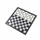 1 Set Checkers Folded Magnetic Plastic Collapsible Checkers Set Draughts Checkers Chess 100 checkers (black and white)