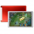 10.1 inch Tablet PC Octa Core Android 8.0 Dual SIM Phone Call Tab Phone PC Tablets Red EU plug