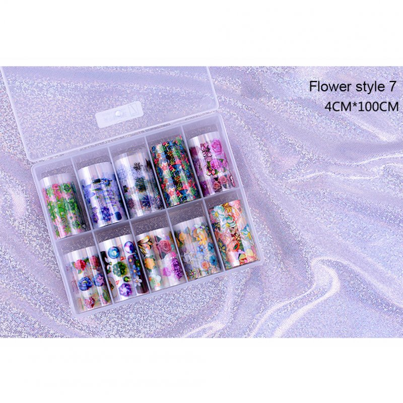 10 Rolls/box Nail Foil Set Nail Sticker