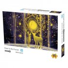 1000Pcs/box Paper Jigsaw Puzzle Kid Educational Intellectual Adult Decompressing Fun Family Game Deer in the forest