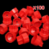 100Pcs Tile Flat Leveling Tiling System Wall Floor Spacers Strap Caps Tools 100 bases
