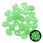 100pcs Glow In The Dark Garden Pebbles Stones For Yard Walkways Decor Luminous Stones green
