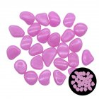 100pcs Glow In The Dark Garden Pebbles Stones For Yard Walkways Decor Luminous Stones rose Red