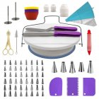 106Pcs Professional Stainless Steel DIY Baking Tools Cake Decorating Supplies Kit Cake Turntable Set Purple suit