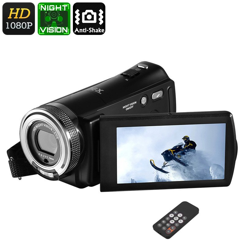 1080P Video Camera Full HD 16X Digital Zoom Recording Camcorder with Night Vision V12