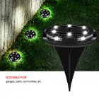 10LED Solar Underground Light Outdoor Waterproof Garden Courtyard staircase White light