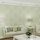 10M 3D Flower Pattern Wallpaper for Bedroom Living Room Decor light green
