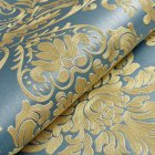 10M Fashion Modern Non-woven Wallpaper 3D Pattern Dust-Proof Moisture-Proof Wall Paper Hotel Living Room Bedroom Decor blue
