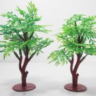 Simulation Green Pagoda Tree Assemble Model