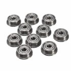 10pcs ABEC-7 Flange Ball Bearings Parts 3x10x4mm for 3D Deep Groove Printer