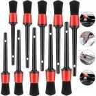 10pcs Detailing Brush Set Fiber Plastic Handle Automotive Detail Brushes for Car Cleaning