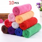 10pcs Soft Fiber Cotton Towels