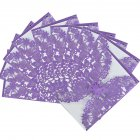 10x Elegant Laser Cut Butterfly Floral Hollow Wedding Invitations Cards Set for Wedding Engagement Bridal Shower  Purple