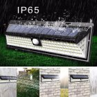 118LEDs Waterproof Solar Motion Sensor Solar Wall Lamp for Outdoor Yard Garden 118LED  warm light  solar wall light