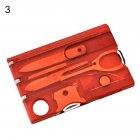 12 IN 1 Credit Card Tool Cutter Blade Business Card Cutter Transparent red