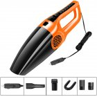 120W 3600mbar Car Vacuum Cleaner Wet And Dry dual-use Vacuum Cleaner Handheld 12V Car Vacuum Cleaner Orange black