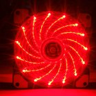12CM 120mm Red 15 LEDs Lights Fan Cooler Case PC Computer Cooling Tool red
