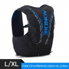 12L Backpack Vest Bag Soft Water Bladder Flask For Hiking Trail Running Marathon Race Black and blue L/XL