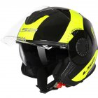 LS2 OF570 Helmet Dual Lens Half Covered Riding Helmet for Women and Men Motorcycle Helmet Casque Black and yellow / bunting XXXL