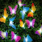 12LED Fiber Butterfly IP44 Waterproof Solar Butterfly String Light for Home, Hotels, Bars, Weddings, Parties, Holiday Celebrations etc. Multicolor