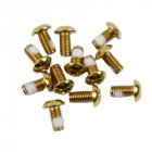 12Pcs M5x10mm Road Mountain Bike Bicycle Disc brakes Rotor Screw Bolts nuts Torx T25 Head Bicycle Brake Disc Bolts Screw Gold one card / 12