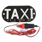 12V Taxi Cab Windscreen Windshield Sign LED Light Lamp Bulb with Suction Disc Cigarette lighter White